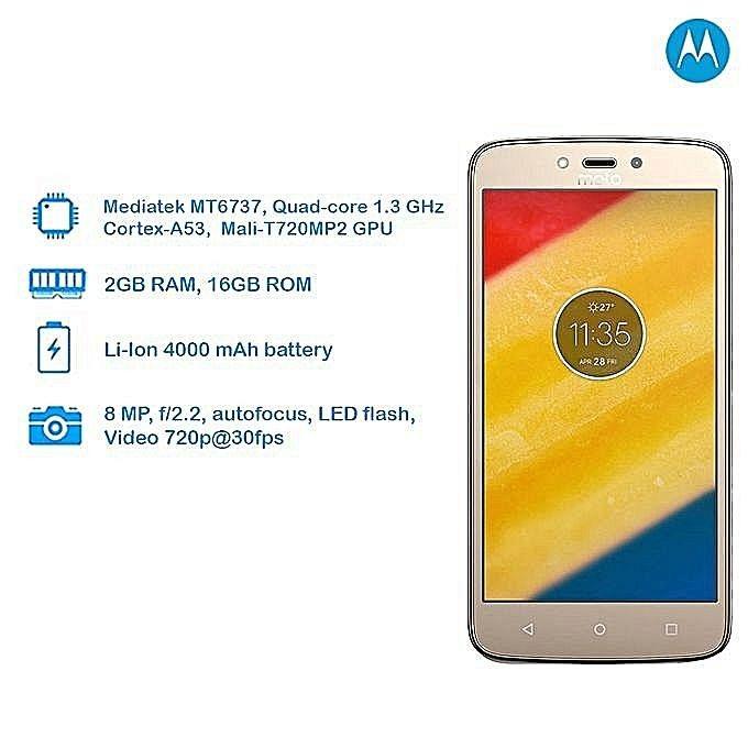 Motorola Moto C Plus (2GB RAM, 16GB ROM) - Gold
