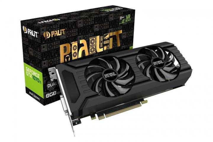 Palit GeForce GTX 1070 Ti 8GB Dual Boost VR Ready Graphics Card - (Black)