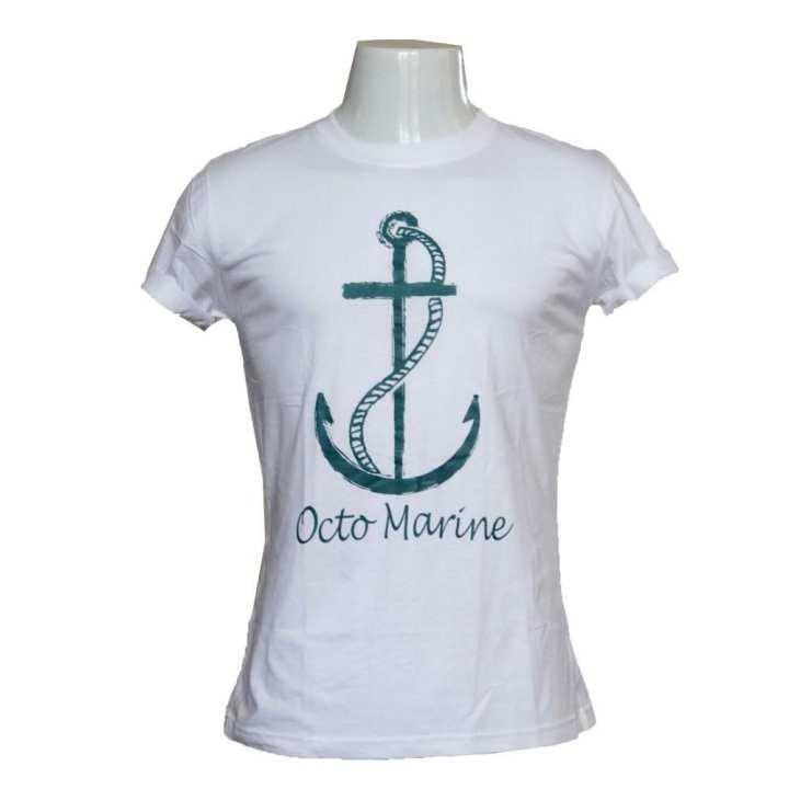 White Octo Marine T-Shirt For Men