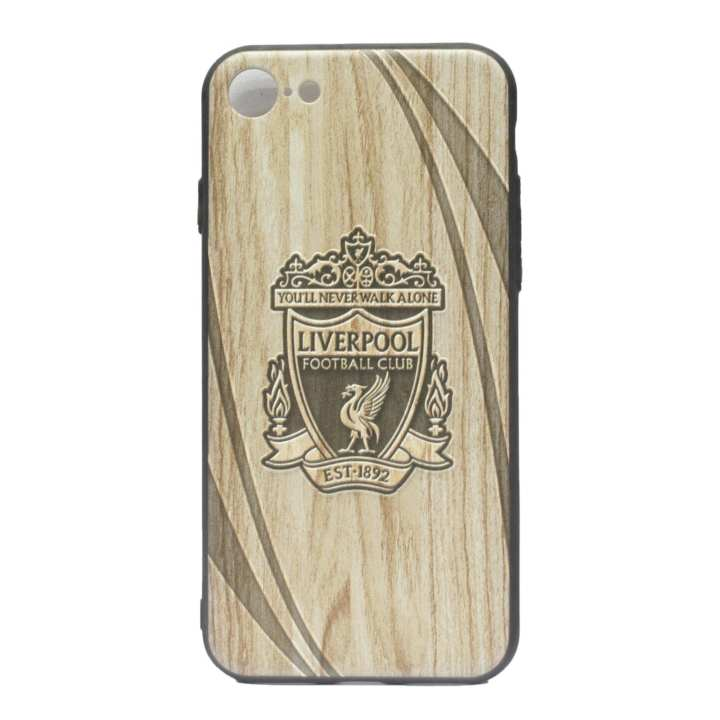 Liverpool Logo Printed Mobile Cover For Iphone 8 - (Brown)