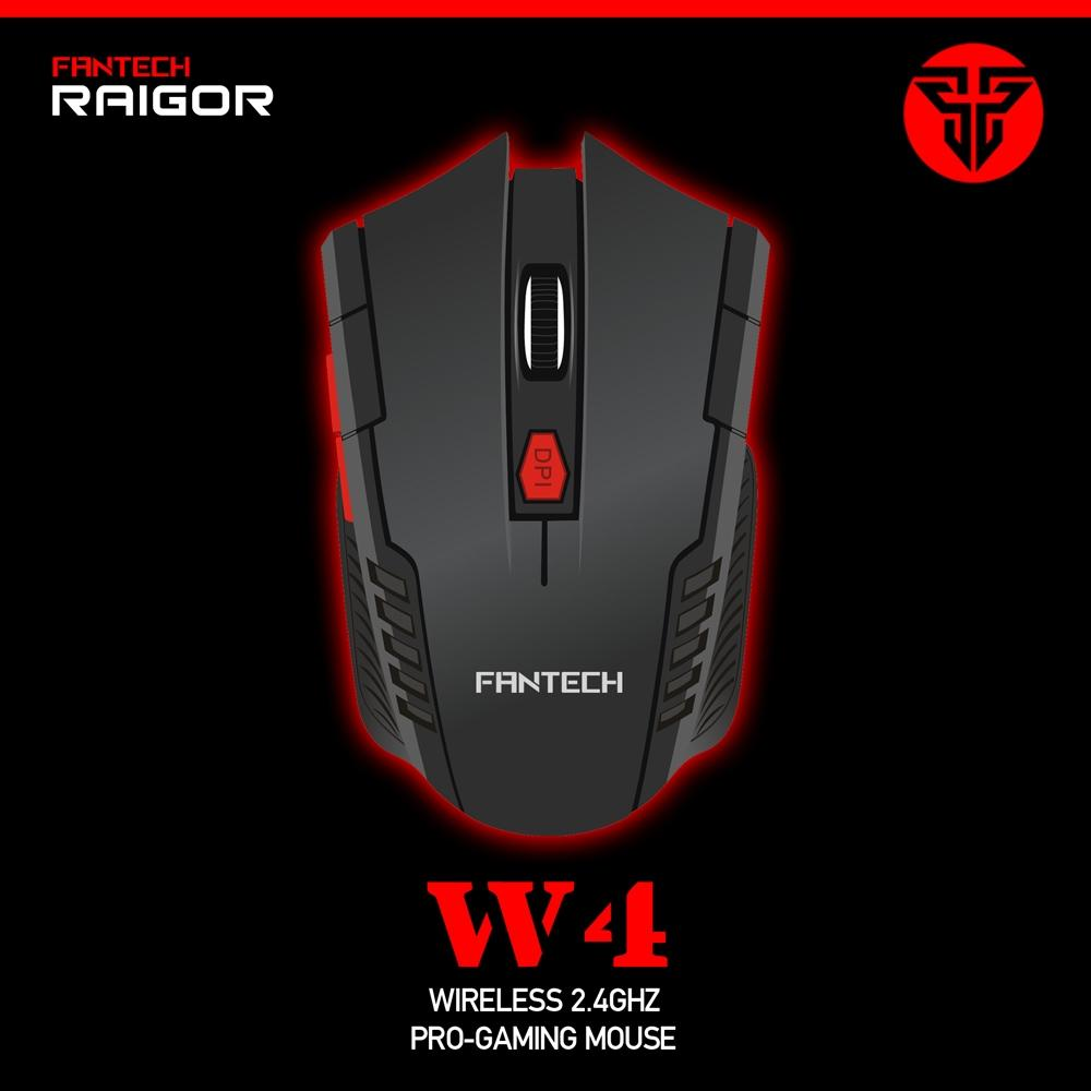 acac248997a Fantech W4 6 Buttons Optical Gaming Mouse Wireless For PC/Laptop