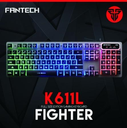 b29506c0cb5 Fantech K611L English Mechanical Feel USB Wired Water Resistant  Professional Gaming Keyboard With Colorful Backlight