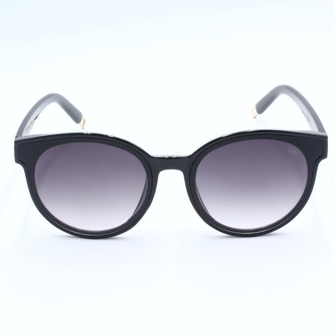 52dfe20c85 GM Gmround Round Lens Cat Eye Sun Glasses For Women - Black