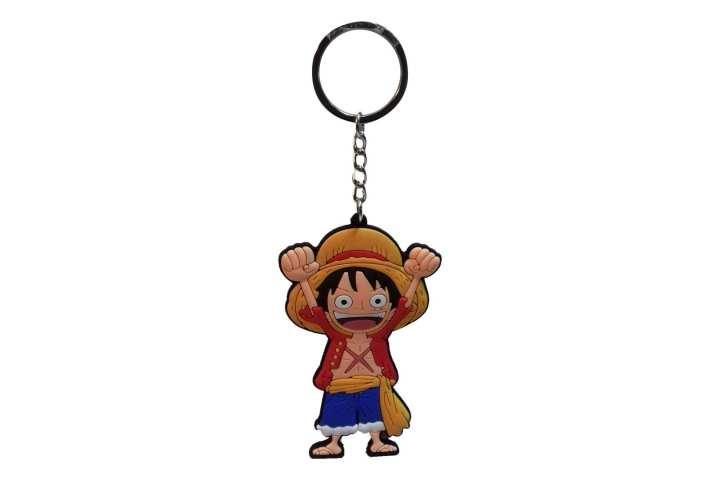 Orange/Blue Rubber One Piece Keychain (B)