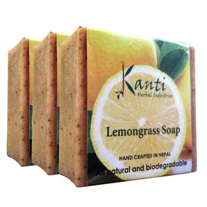 Kanti Herbal Pack of 3 Lemongrass Soap – 80G