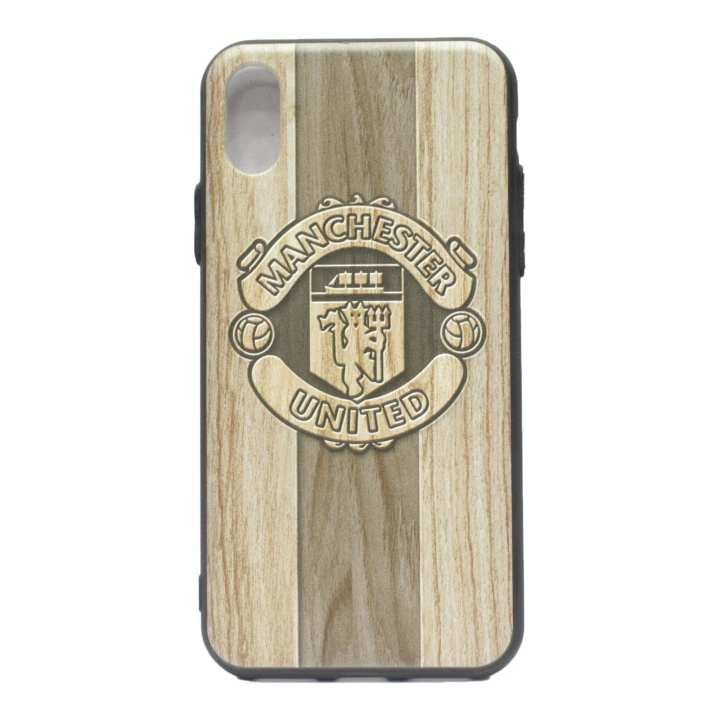 Manchester United Logo Printed Mobile Cover For Iphone X - (Brown)