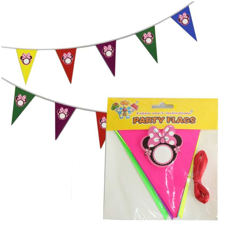 Multicolored Minnie Mouse Party Flags