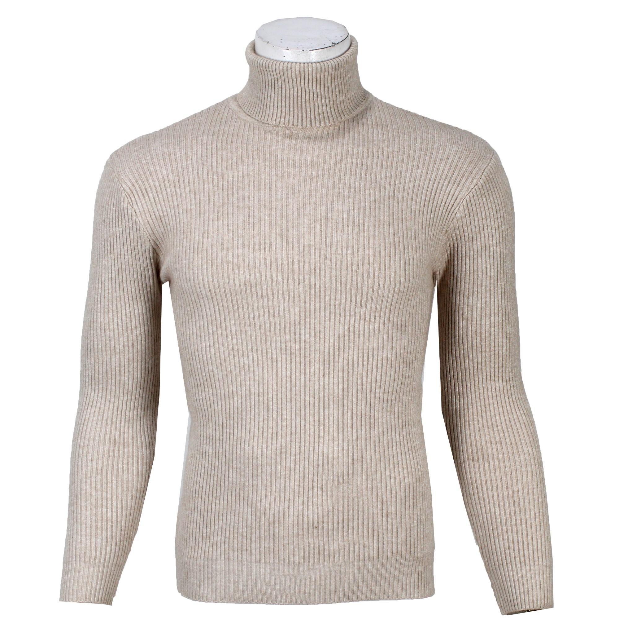 9eb7c84d738 Cream Turtle Neck Sweater For Men