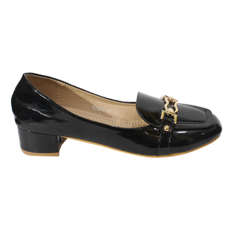 9ce49df7ed4b Shiny Block Heel Pump Heel Shoes For Women - 85855-96