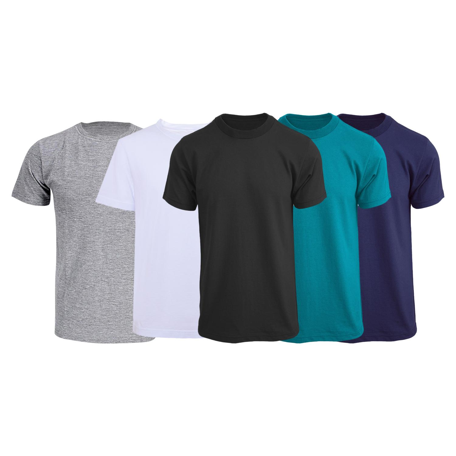 309a538c771 Pack of 5 Solid Round Neck Unisex T-Shirt (Black