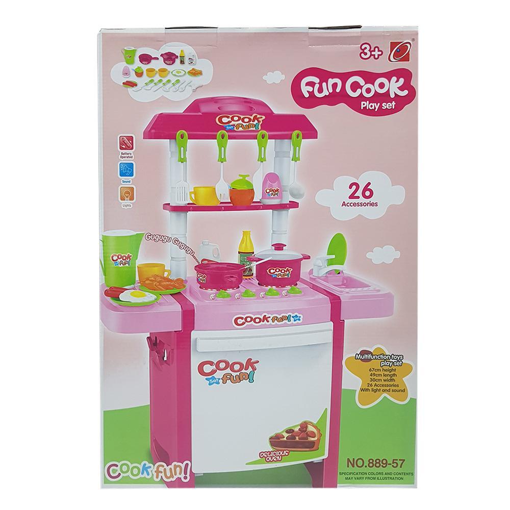 Pink Fun Cook Play Set 889 57 26 Pcs