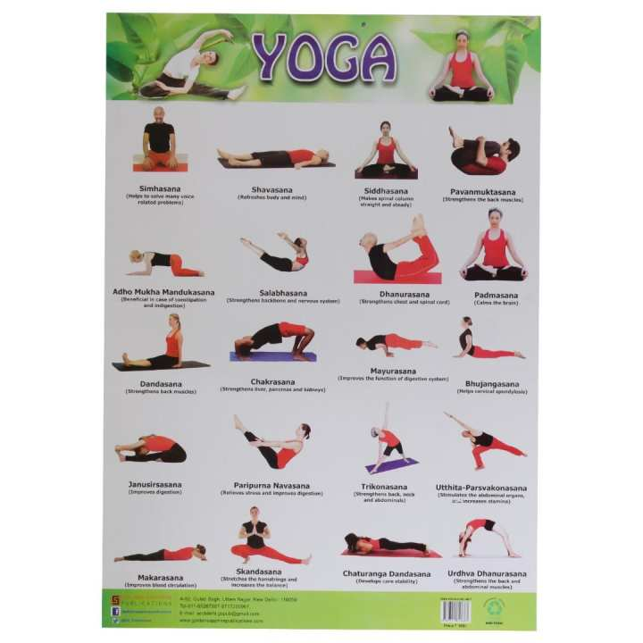 Educational Yoga Chart
