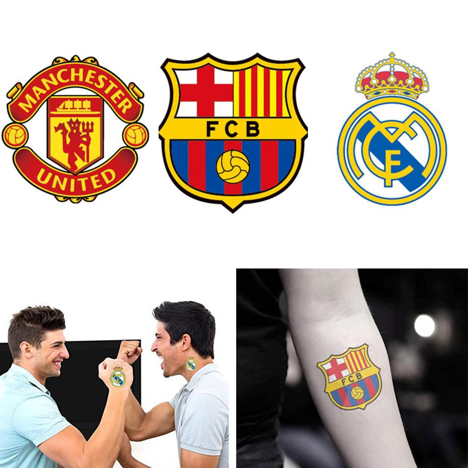 6e0000e19 Manchester United Barcelona Real Madrid Soccer Club Temporary Tattoo  Stickers