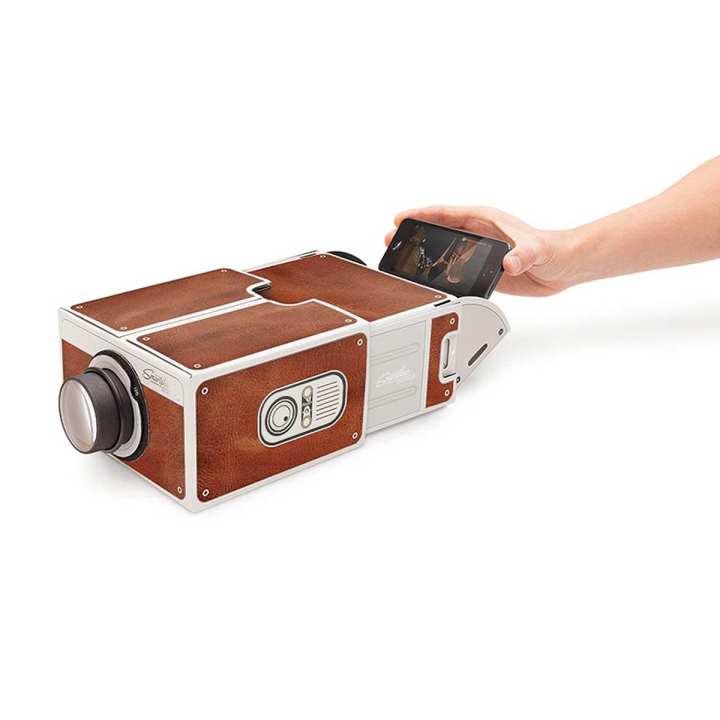 DIY Micro Cardboard Mobile Phone 8X Amplification Projector V2.0