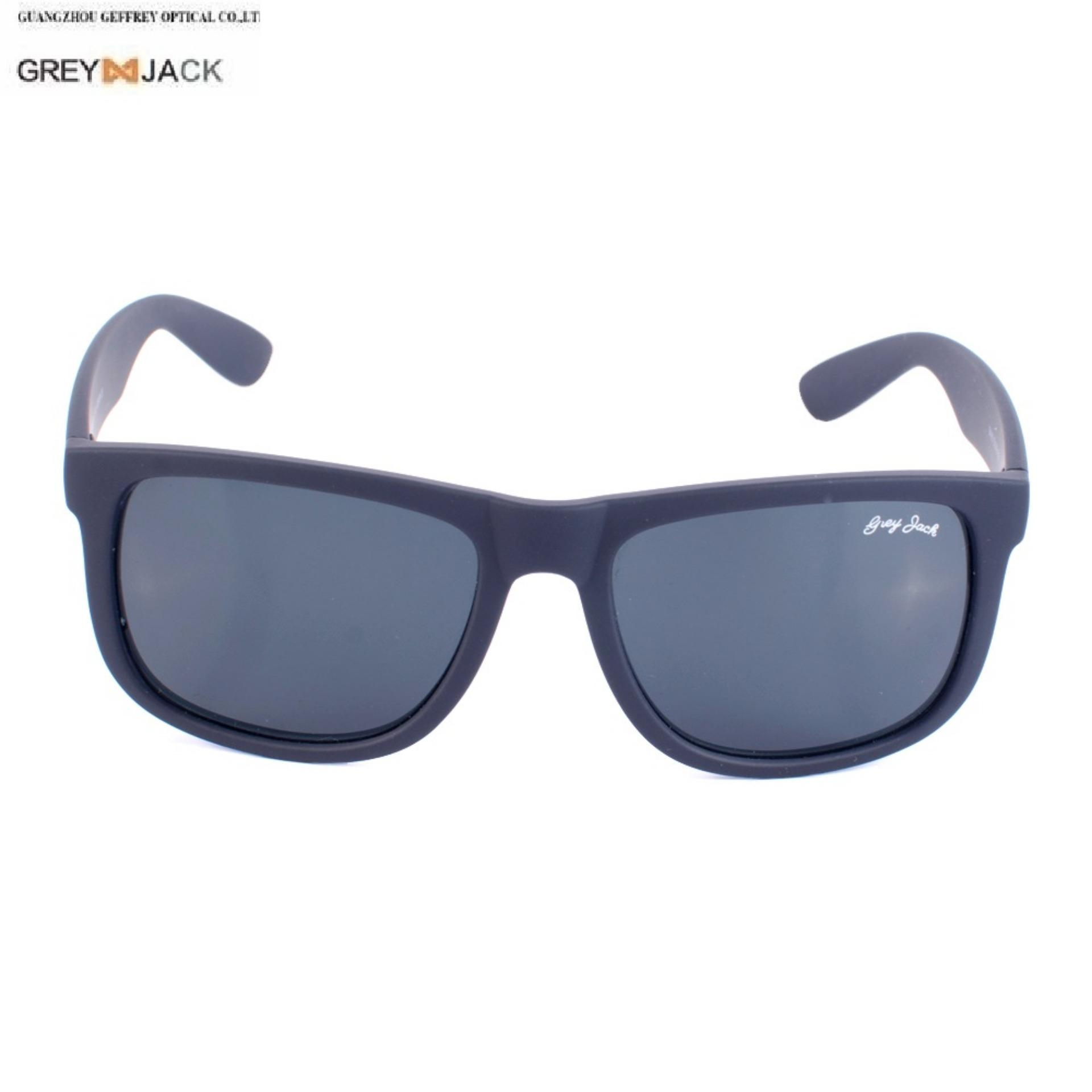 7967708d7a99 GREY JACK Rect.400% UV Protected Black Wayfarer Sunglasses