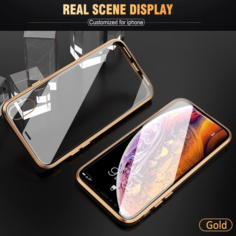 Double Sided Magnetic Case For iPhone X / Xs