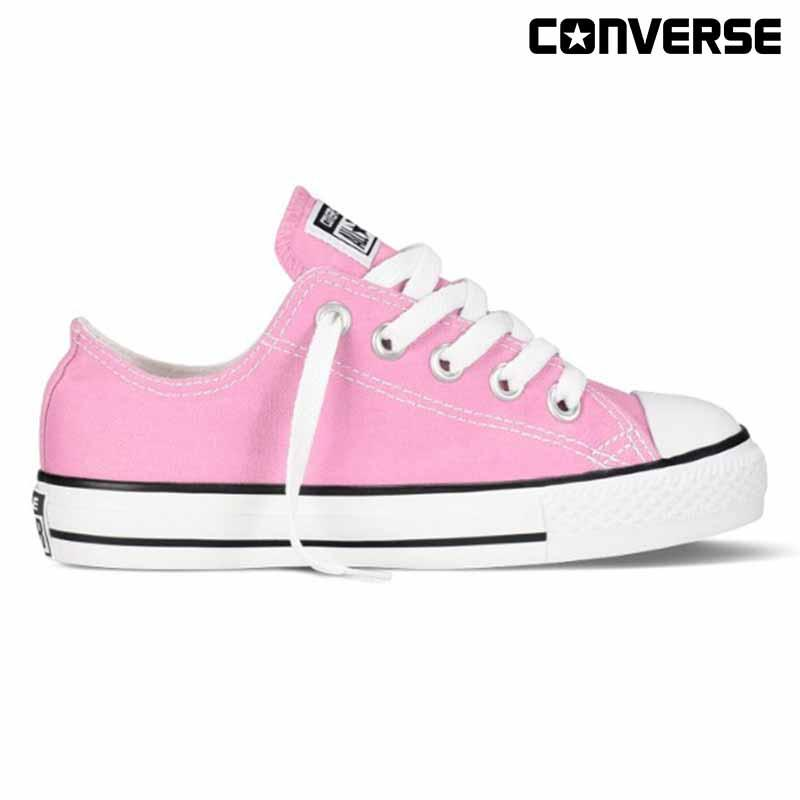 d9ee623158b9f Converse Chuck Taylor All Star Ox Pink Canvas Shoes For Kids 3J238C