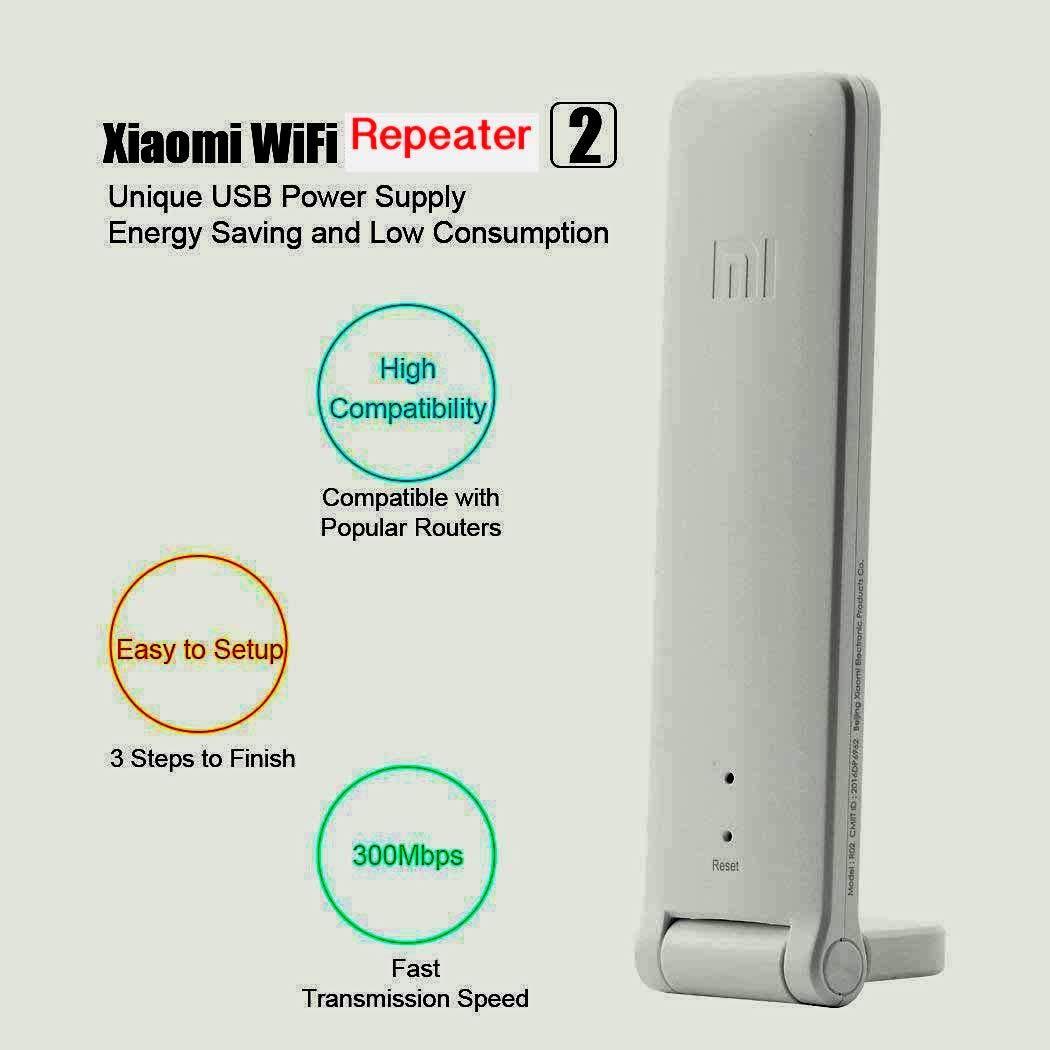 Network Device Smart WiFi Range Extender, Xiaomi Repeater 2 WiFi Signal  Booster Universal WiFi Amplifier 300Mbps 802 11n Wireless USB WiFi  Extenders