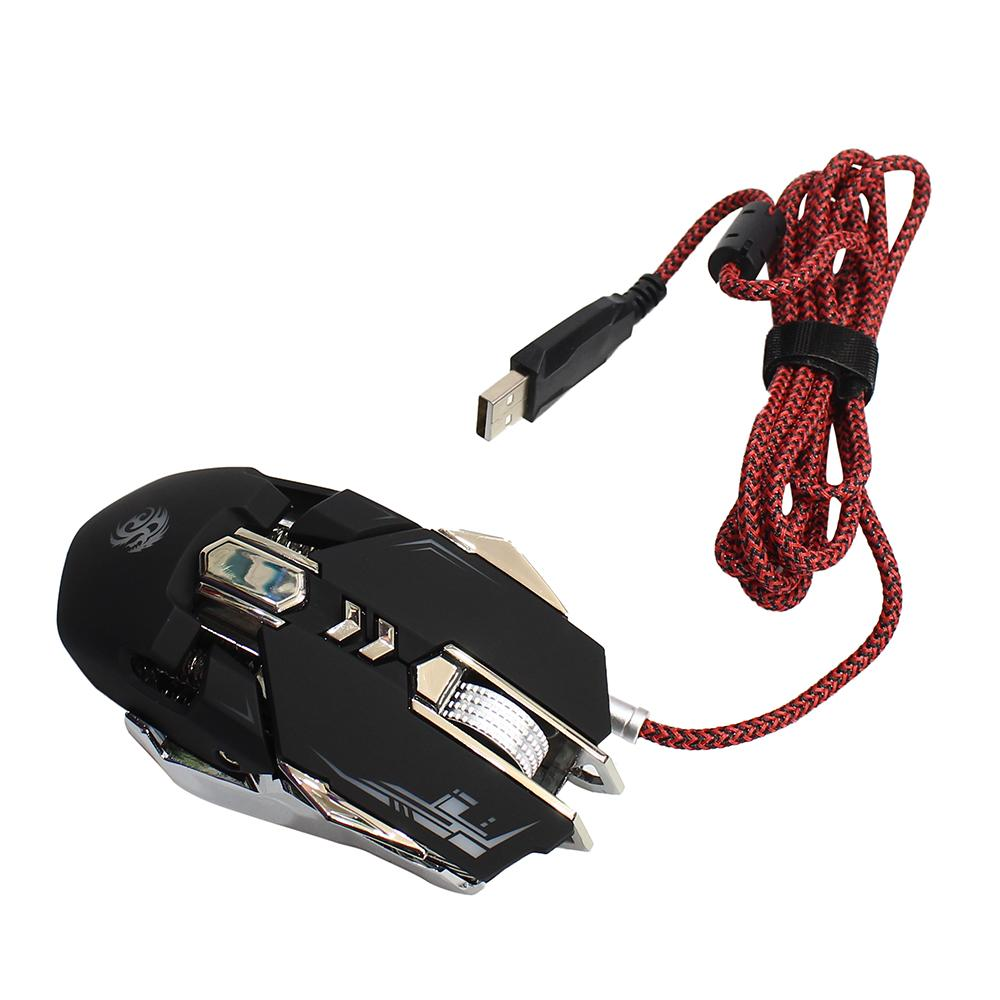 3f6bb684167 IMICE V5 Programmable 7-Buttons 3200DPI Wired Optical Gaming Mouse - Black