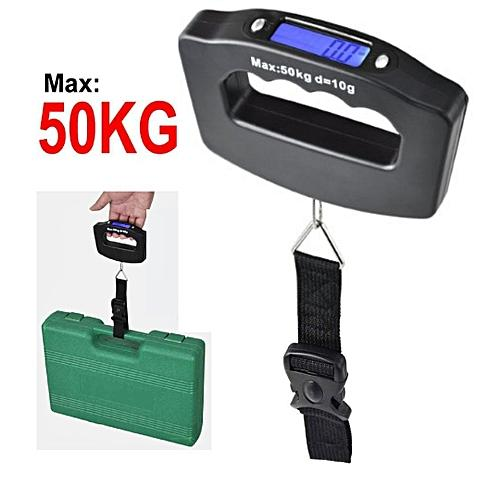 50kg Portable Travel Electronic Luggage Scale LCD Display Travel Digital  Luggage Scales
