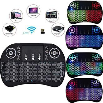 I8 Mini Keyboard with touch pad, Rechargeable