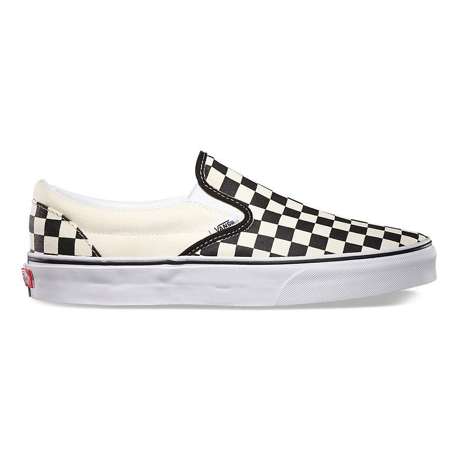 b9ba6a98f0e0ce Vans Black White Checkerboard 7302 UA Classic Slip-On Unisex Shoes -  VN000EYEBWW