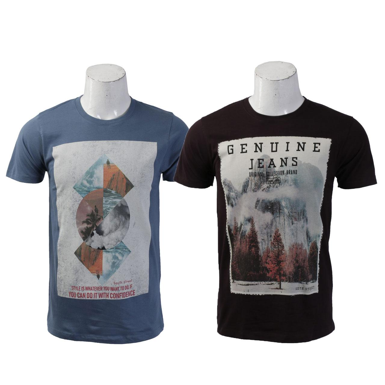 9ef915ee Combo of 2 Graphic T-Shirt For Men