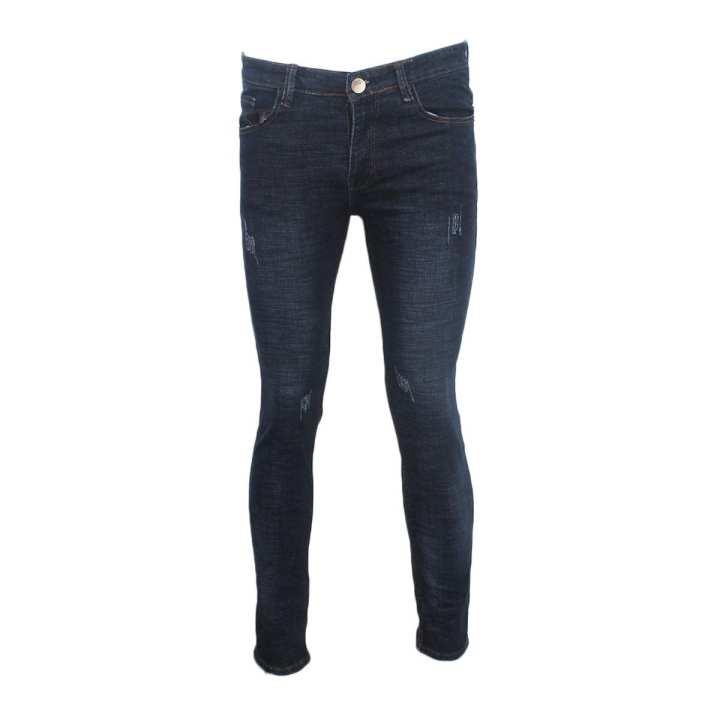 Blue Slim Fit  Denim Pant For Men