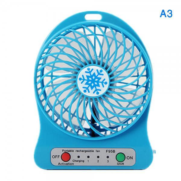Khopo Rechargeable 3 Mode Portable Mini Fan USB Lithium Battery