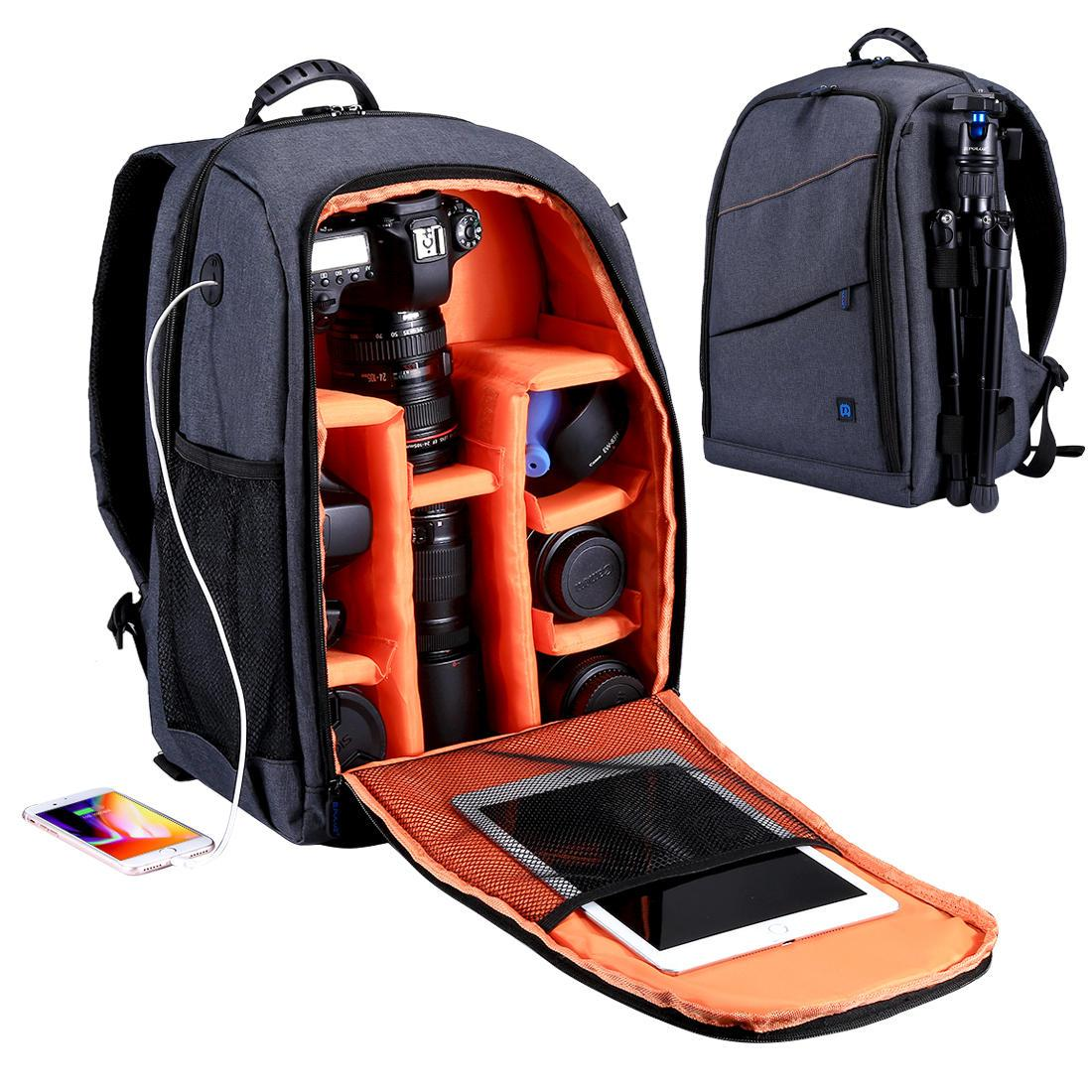 PULUZ Outdoor Portable Waterproof Scratch-Proof Dual Shoulders Backpack  Camera Bag ebc1f3e79785d