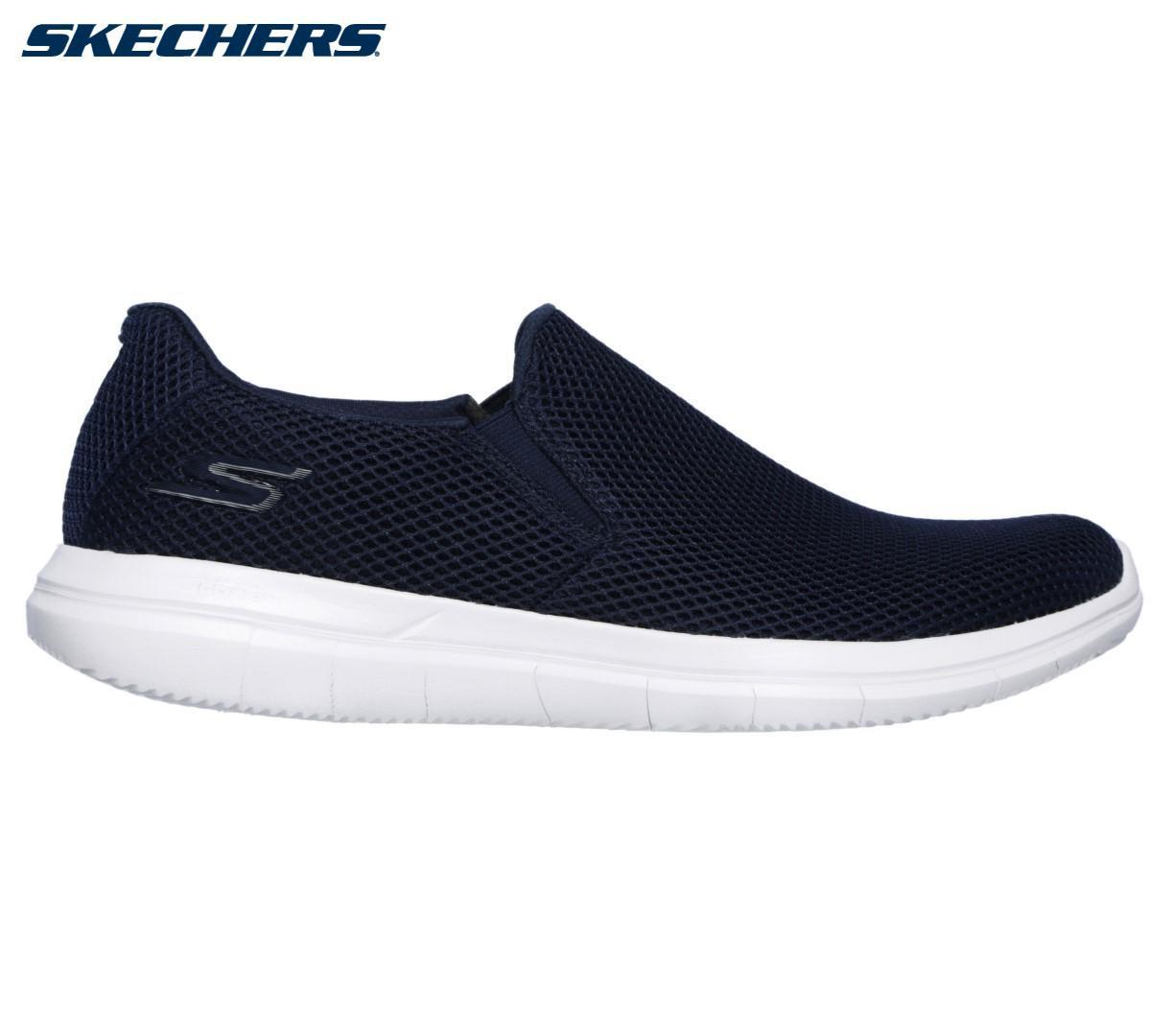 0dc818adbbe 54018-NVW Navy Skechers Go Flex 2 Compact Slip On Shoes For Men
