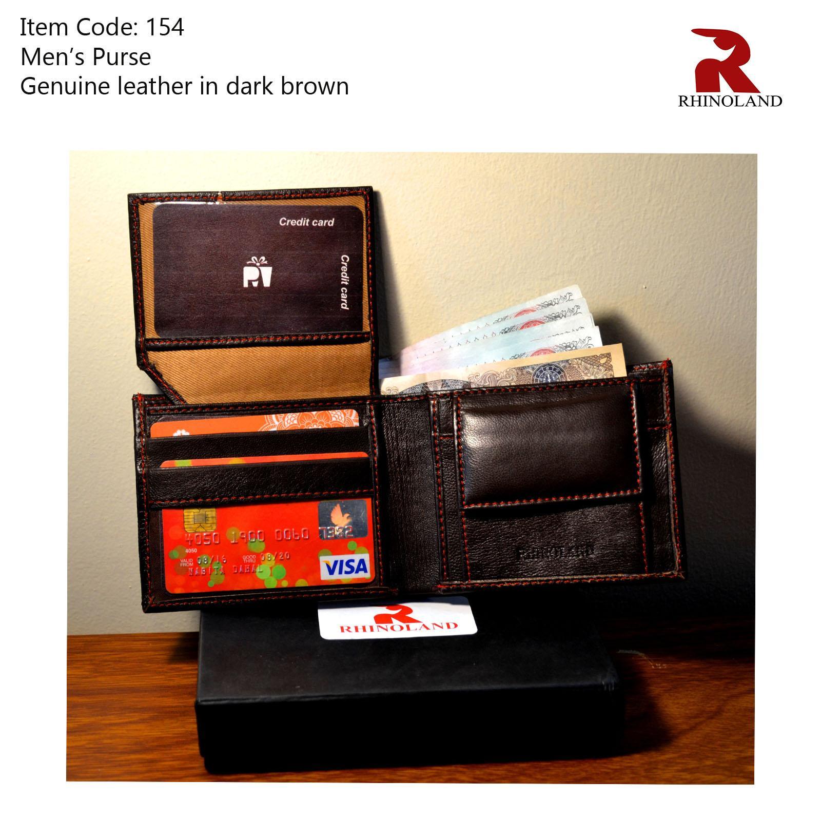 af59a6d7495 Rhinoland Genuine Leather Dark Brown Wallet