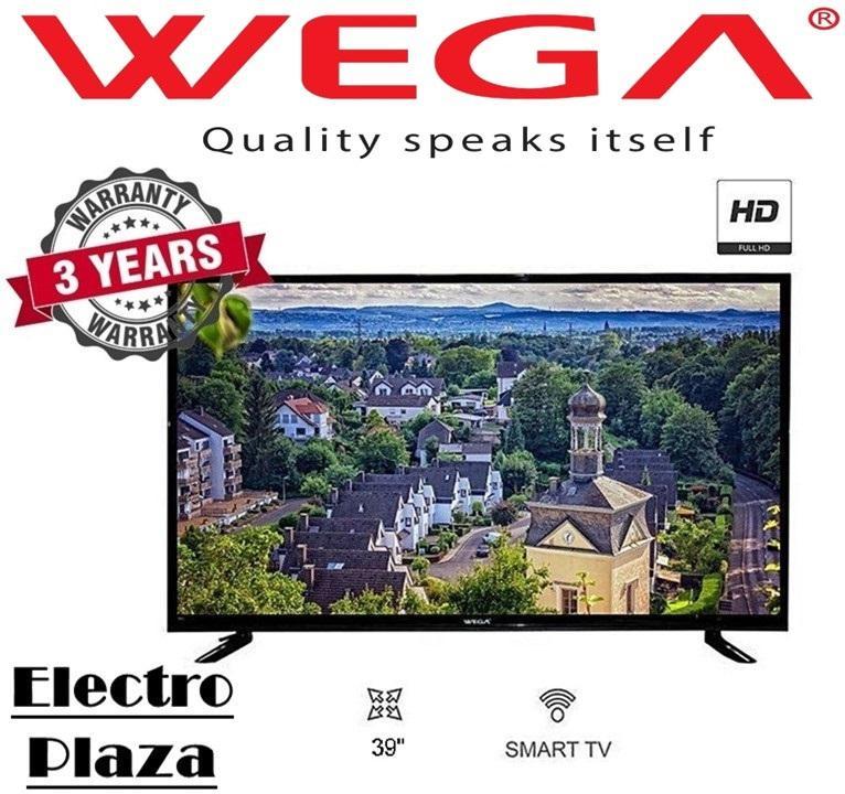 WEGA 39 Inch SMART DLED TV HI Sound Double Glass - (Black)