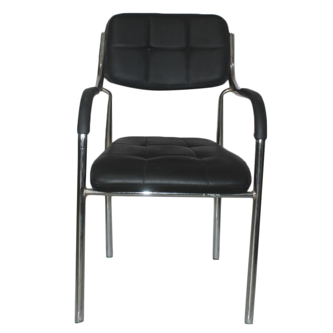 Stupendous Black Silver Visitor Chair Bralicious Painted Fabric Chair Ideas Braliciousco