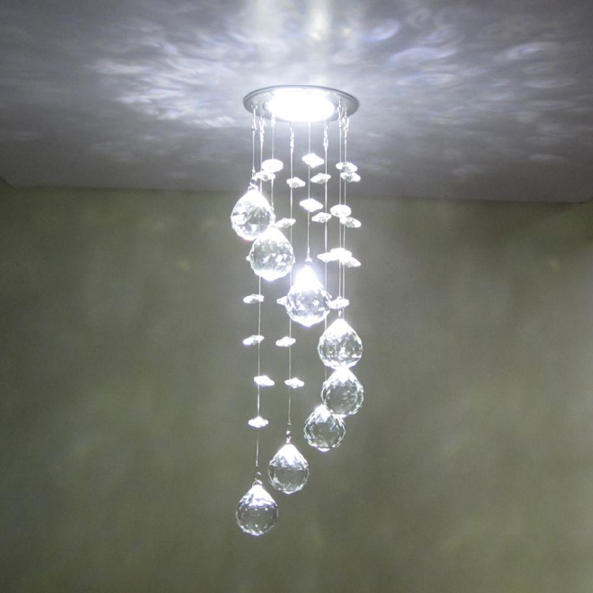 Crystal chandelier modern led k9 ceiling light fixture for living room hotel hallway