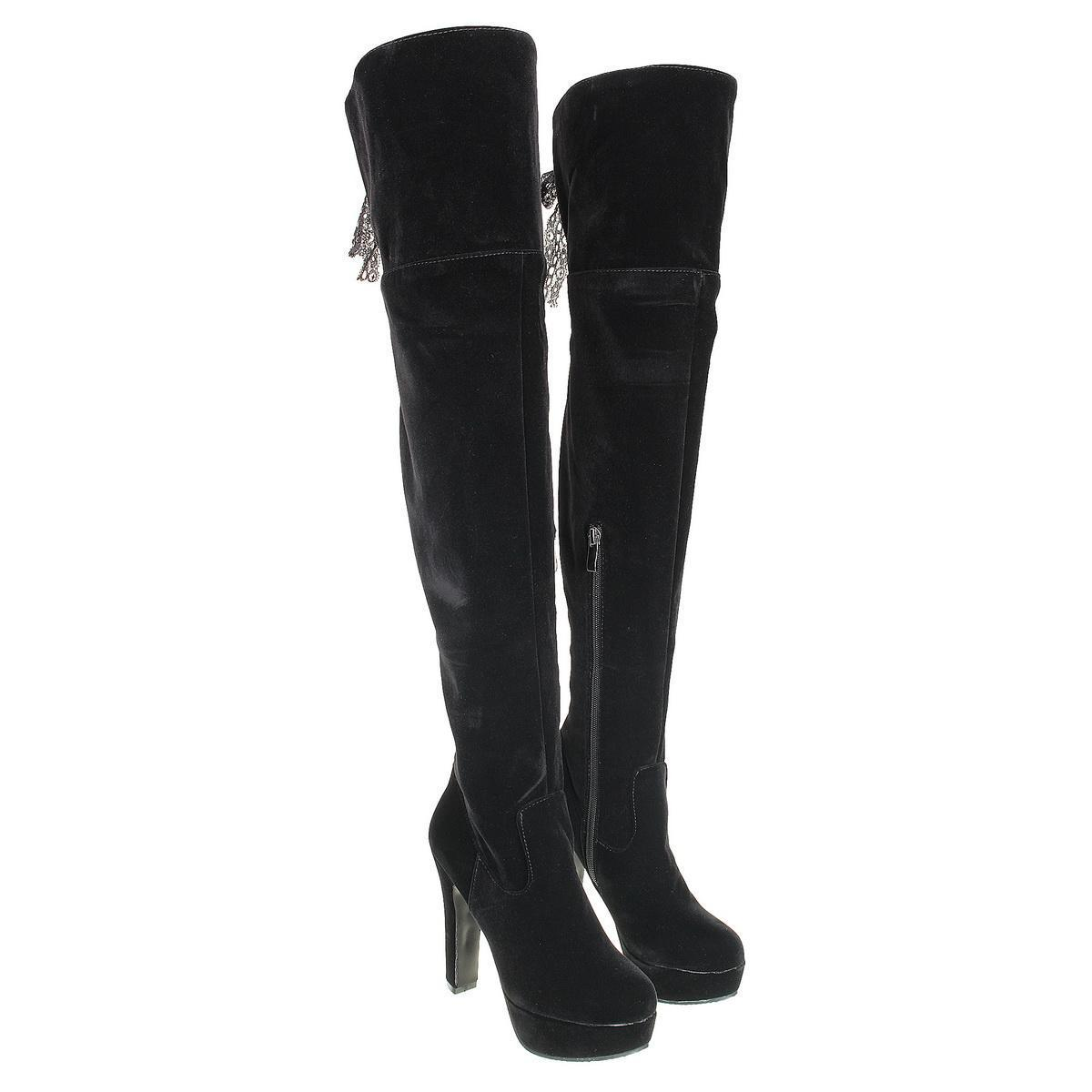 26e6c2a4239 Women's Zipper Over The Knee Thigh Boots Block High heel Round toe Shoes  New YT