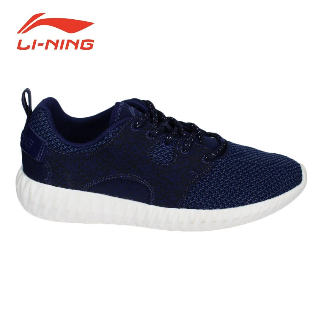 566435c767 Li-Ning Navy Blue Printed Lace Up Shoes For Men (AGLM005-3B)
