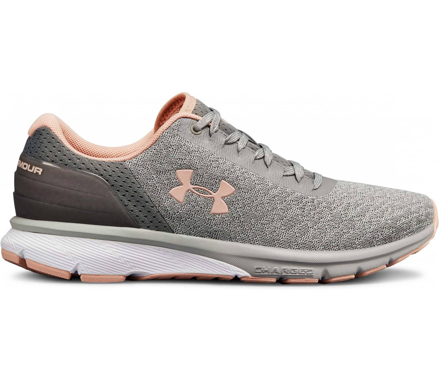 Under Armour Grey Pink UA Charged Escape 2 Running Shoes For Women -  3020365- 7bd1184741394
