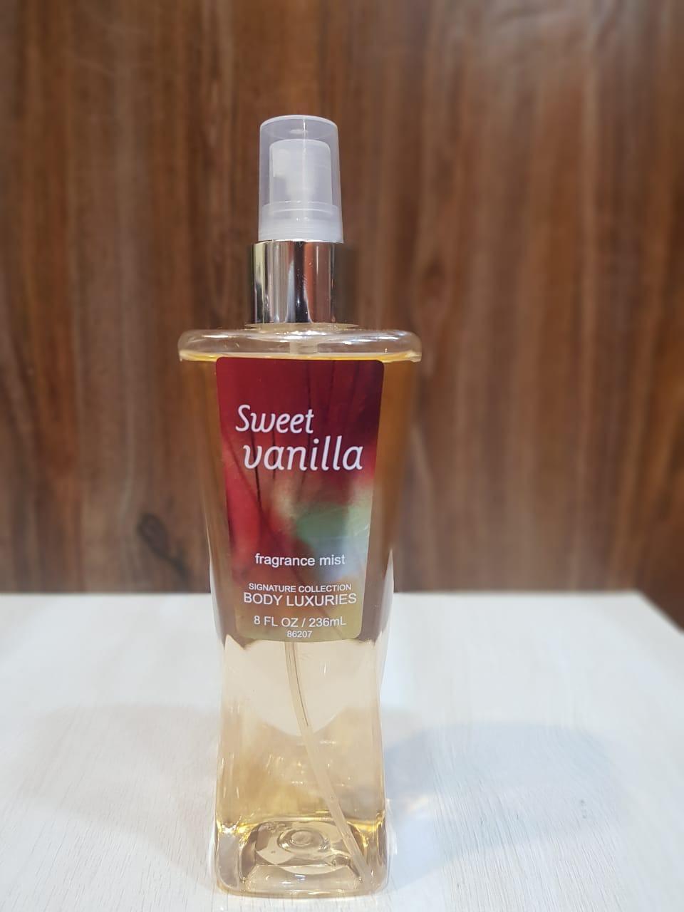 Body Luxuries Sweet Vanilla Fragrance Mist 236 Ml