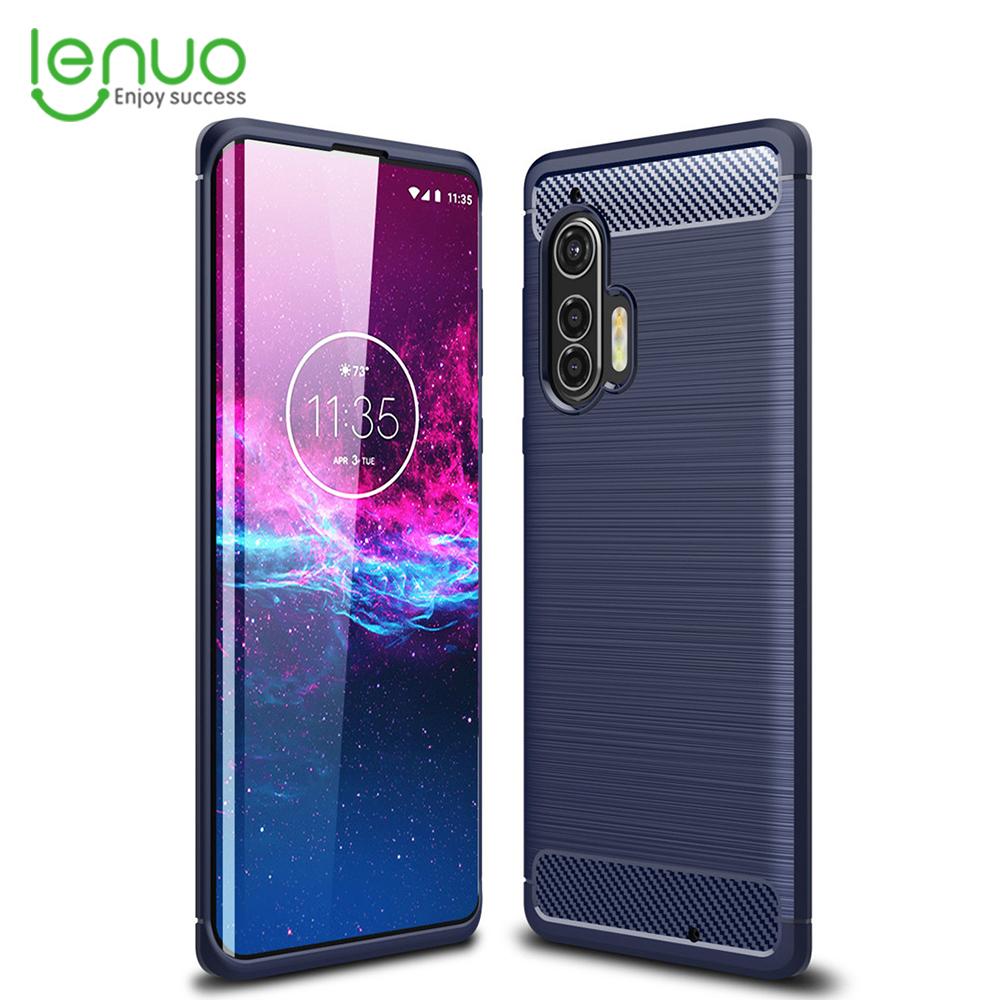 Lenuo for Motorola edge+ / edge Plus Case Carbon Fiber Cover