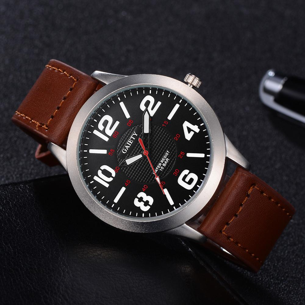 cc2d0560388 FashionieStore Men s wristwatch Male Fashion Pattern Quartz Watch Leather  Strap Belt Table Watches BK