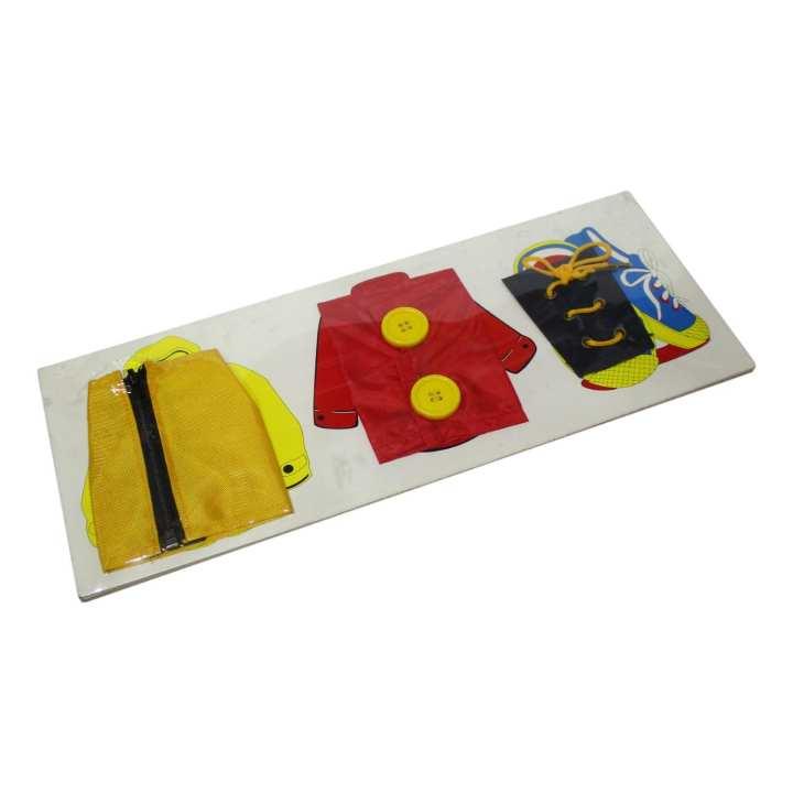 Multicolored Montessori Dressing Frame