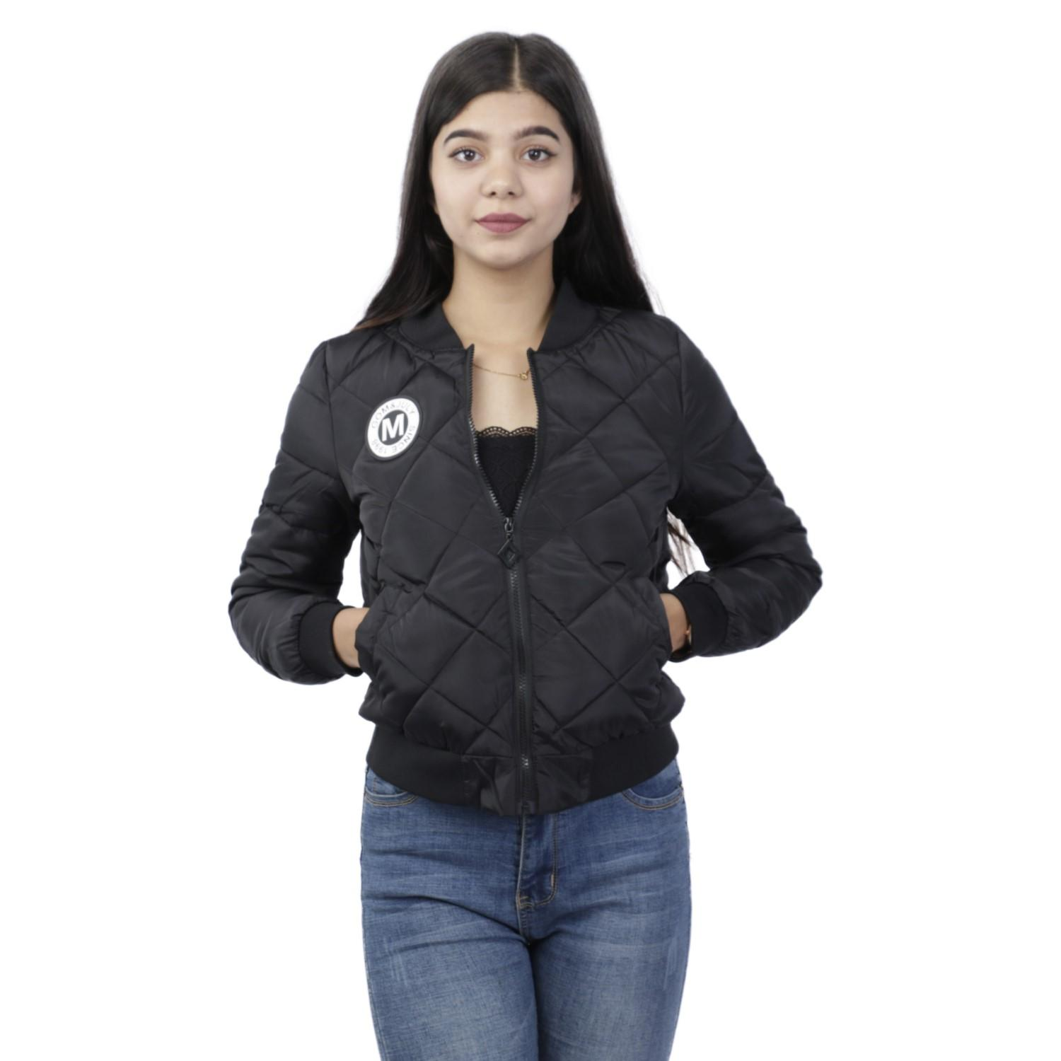 3de4c37b8 Solid Bomber Jacket For Women