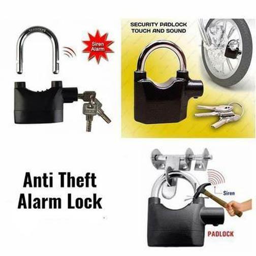 Heavy Duty Security Siren Alarm Lock System 110db