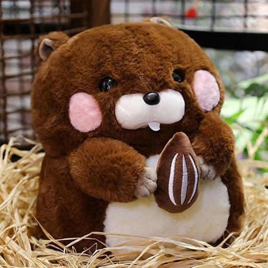 Cute Groundhog Doll Plush Toy Hamster Stuffed Appease Child Kids Baby