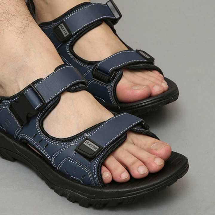 Detachable Rubber Beach Sandals Summer Casual Slippers Dual Use PU Shoes For Men