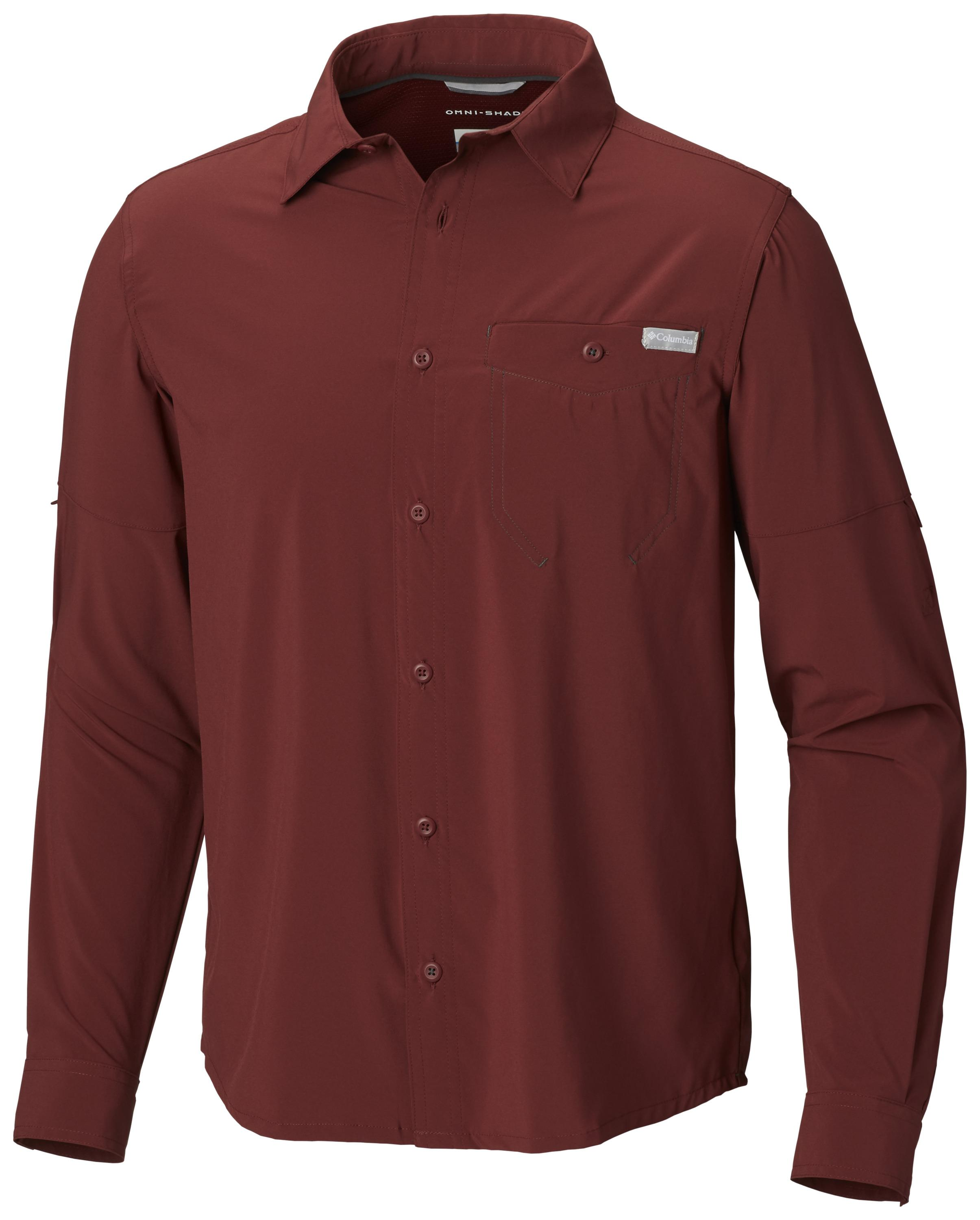 075106f2032 Columbia 1773251615 Triple Canyon™ Solid Long Sleeve Shirt For Men-Tapestry