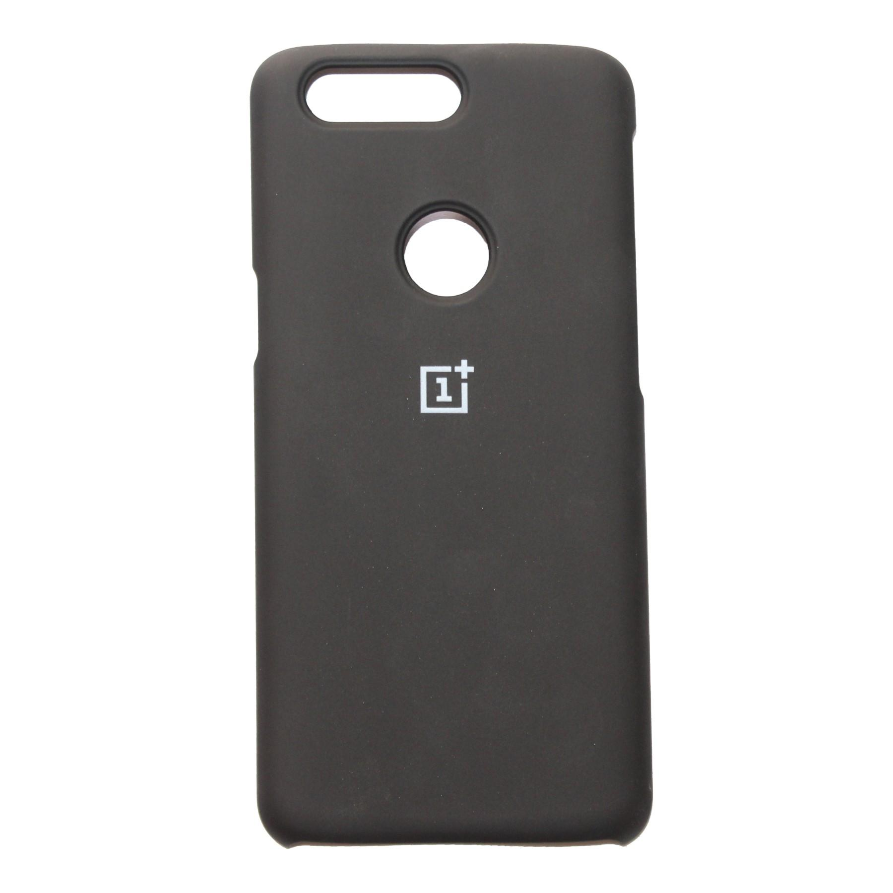 Solid Hard Silicone Protective Case For OnePlus 5T - Black