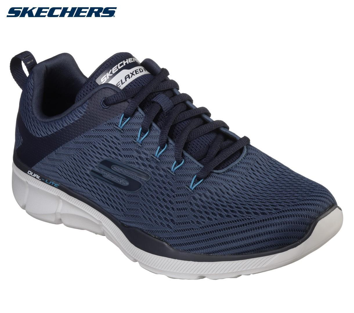 4622ebf7a10 Skechers Navy Relaxed Fit Equalizer 3.0 Sneakers For Men - 52927-NVY