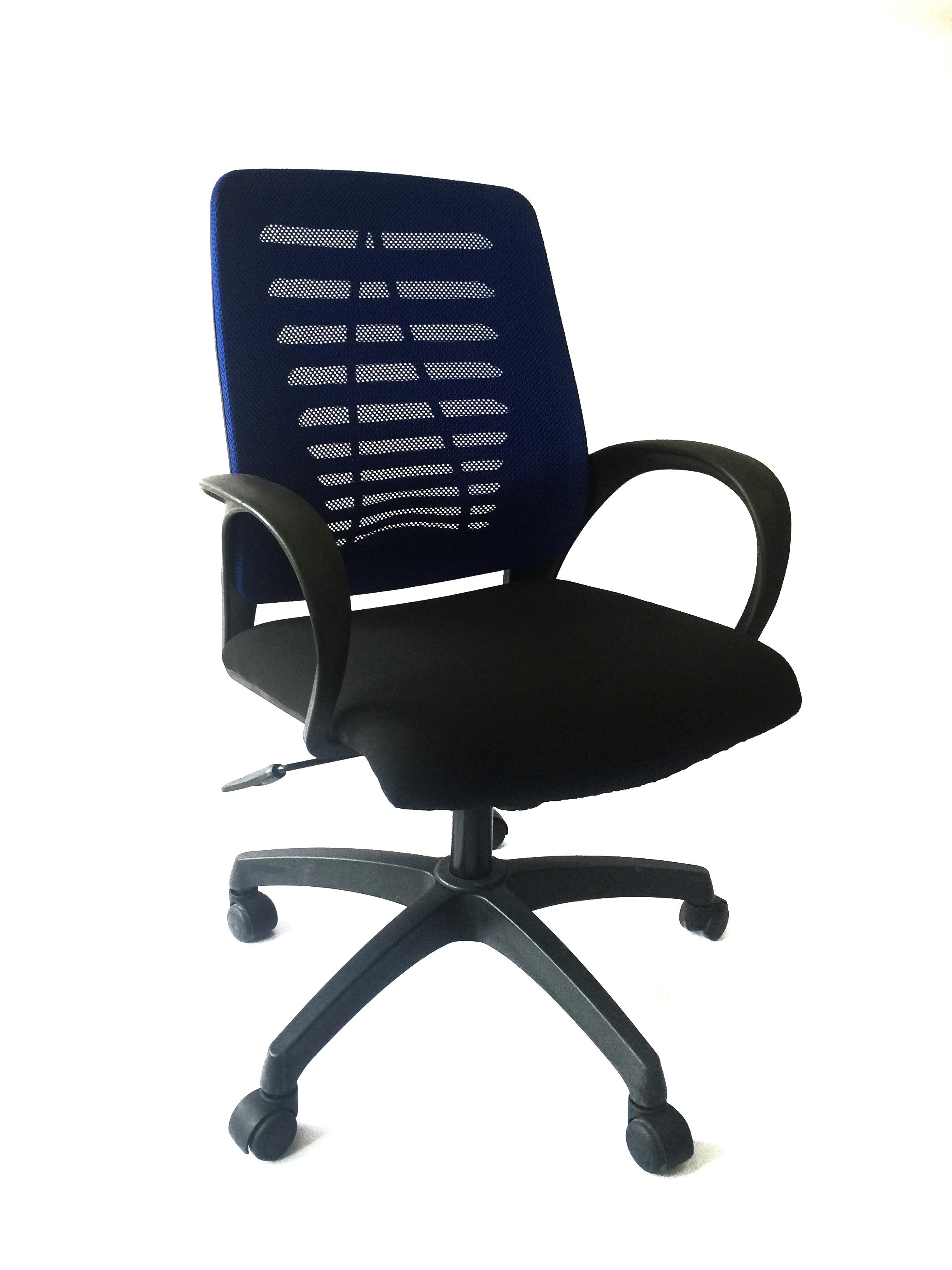 Brilliant Solid Office Revolving Chair Hik 1948A Blue Bralicious Painted Fabric Chair Ideas Braliciousco